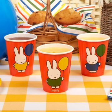 Miffy Birthday Party Cups - pack of 8
